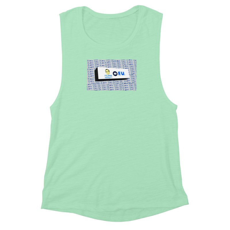 Feldman University Women's Muscle Tank by The David Feldman Show Official Merch Store