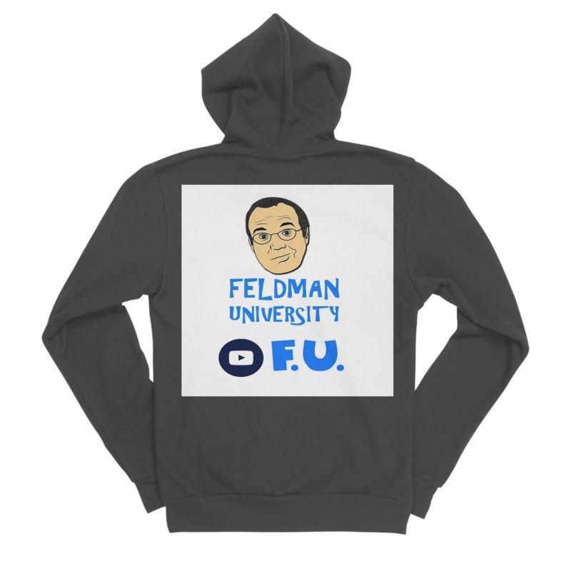 Feldman University Women's Sponge Fleece Zip-Up Hoody by The David Feldman Show Official Merch Store