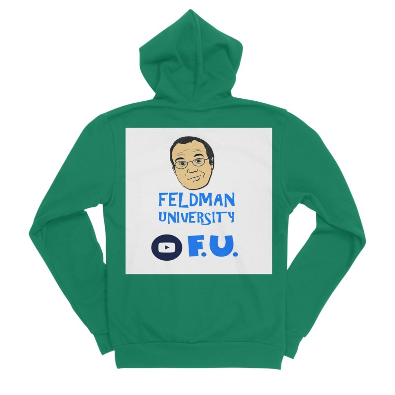 Feldman University Men's Sponge Fleece Zip-Up Hoody by The David Feldman Show Official Merch Store