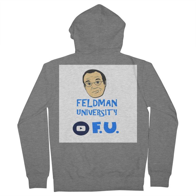 Feldman University Men's French Terry Zip-Up Hoody by The David Feldman Show Official Merch Store