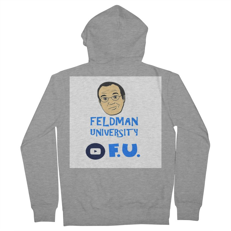 Feldman University Men's French Terry Zip-Up Hoody by The David Feldman Show Official Merch Store