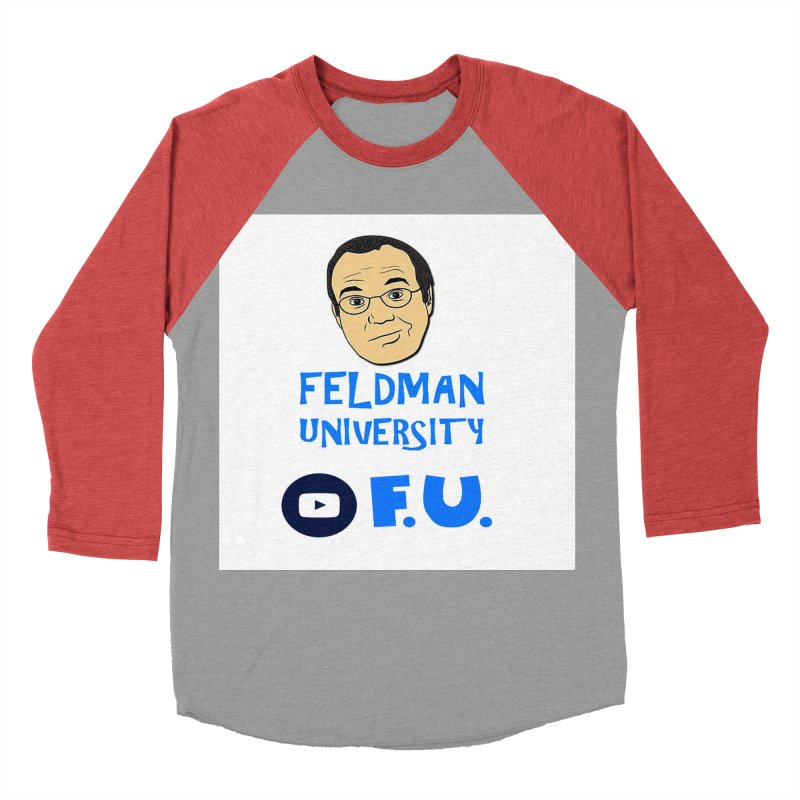 Feldman University Women's Baseball Triblend Longsleeve T-Shirt by The David Feldman Show Official Merch Store