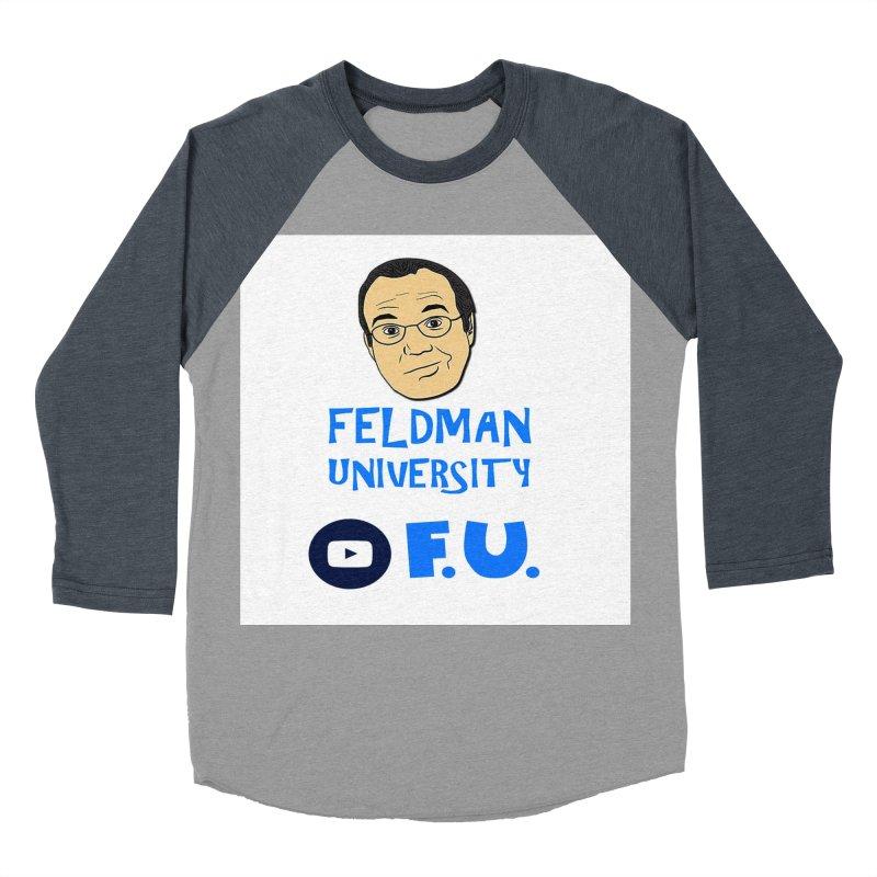 Feldman University Men's Baseball Triblend Longsleeve T-Shirt by The David Feldman Show Official Merch Store