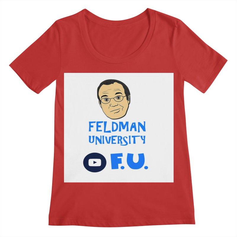 Feldman University Women's Regular Scoop Neck by The David Feldman Show Official Merch Store