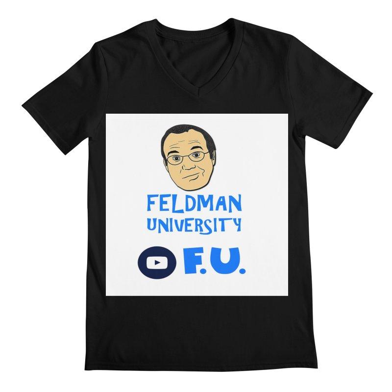 Feldman University Men's Regular V-Neck by The David Feldman Show Official Merch Store