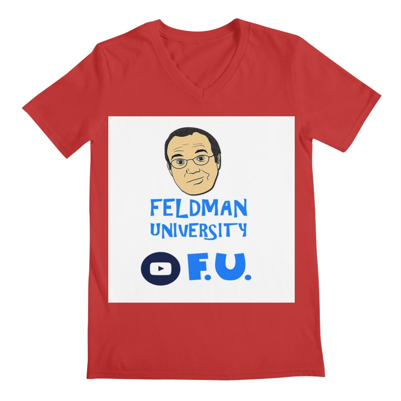 Feldman University Men's Regular V-Neck by The David Feldman Show Official Merch Store