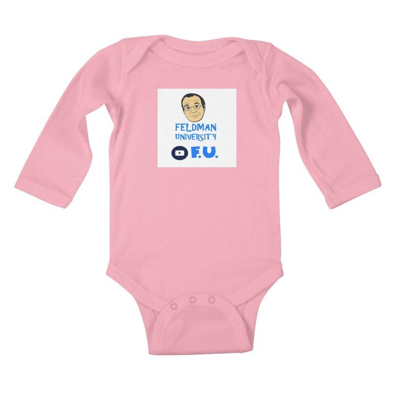 Feldman University Kids Baby Longsleeve Bodysuit by The David Feldman Show Official Merch Store
