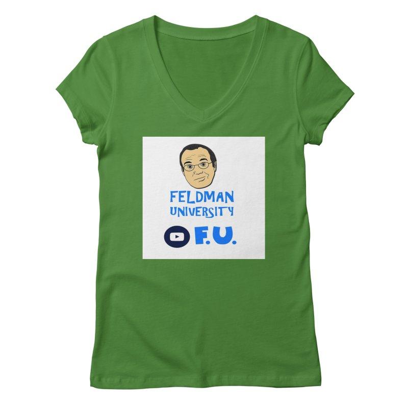 Feldman University Women's Regular V-Neck by The David Feldman Show Official Merch Store