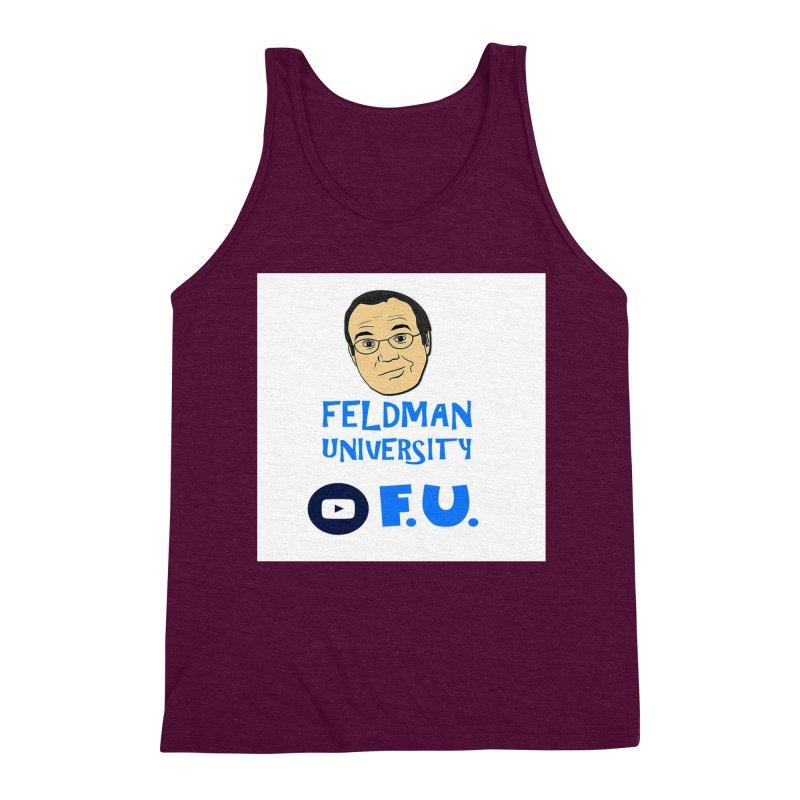Feldman University Men's Triblend Tank by The David Feldman Show Official Merch Store