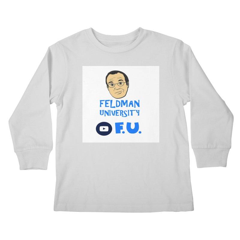 Feldman University Kids Longsleeve T-Shirt by The David Feldman Show Official Merch Store