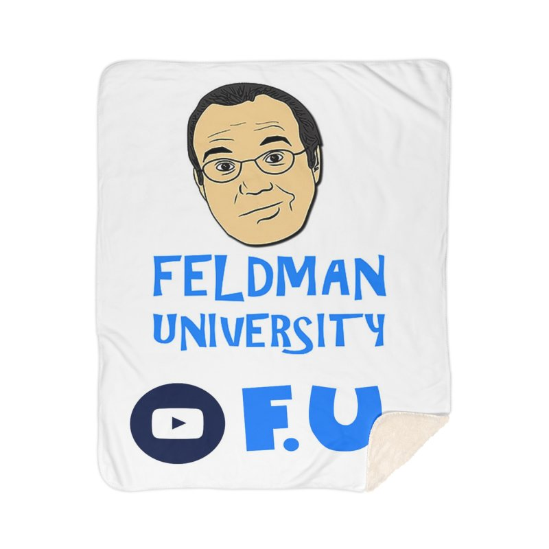 Feldman University Home Sherpa Blanket Blanket by The David Feldman Show Official Merch Store
