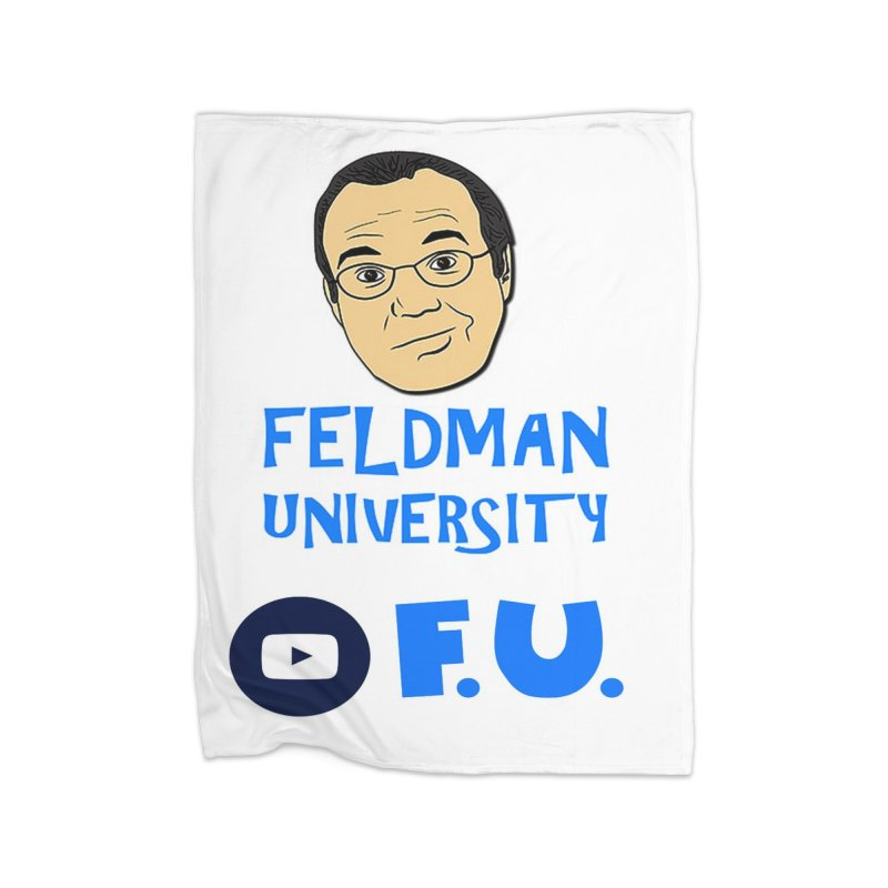 Feldman University Home Fleece Blanket Blanket by The David Feldman Show Official Merch Store