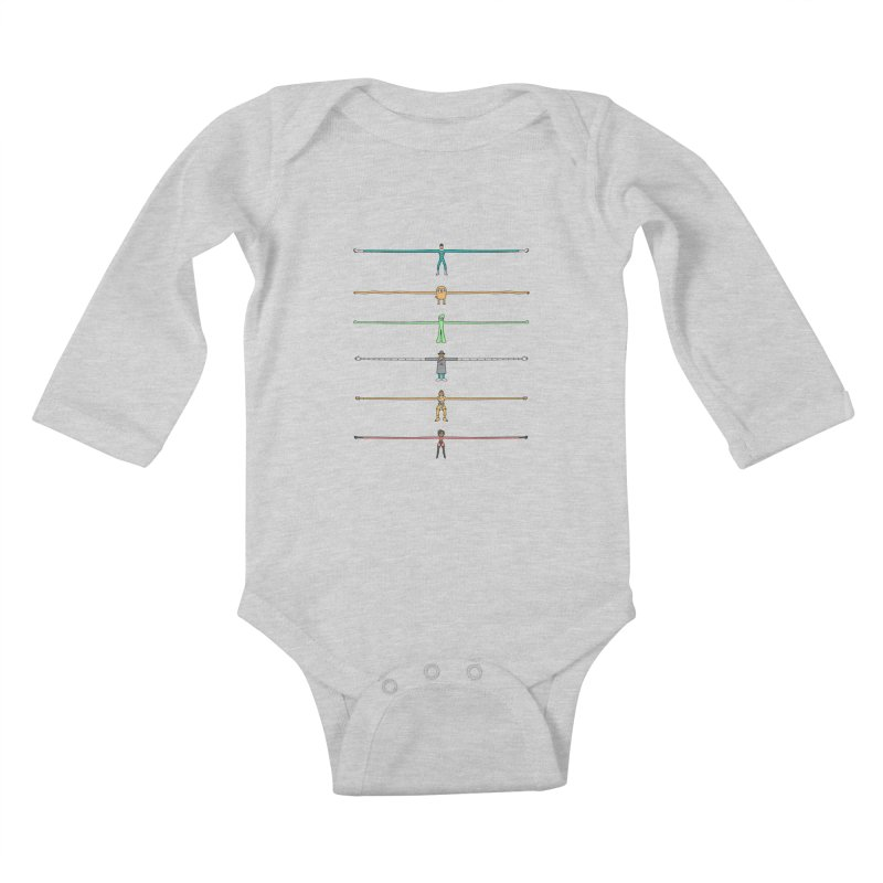 AAAAAARMS! Kids Baby Longsleeve Bodysuit by davidfromdallas's Artist Shop