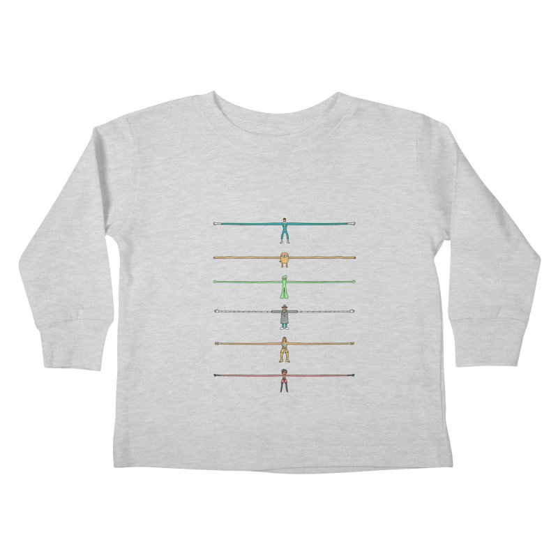 AAAAAARMS! Kids Toddler Longsleeve T-Shirt by davidfromdallas's Artist Shop