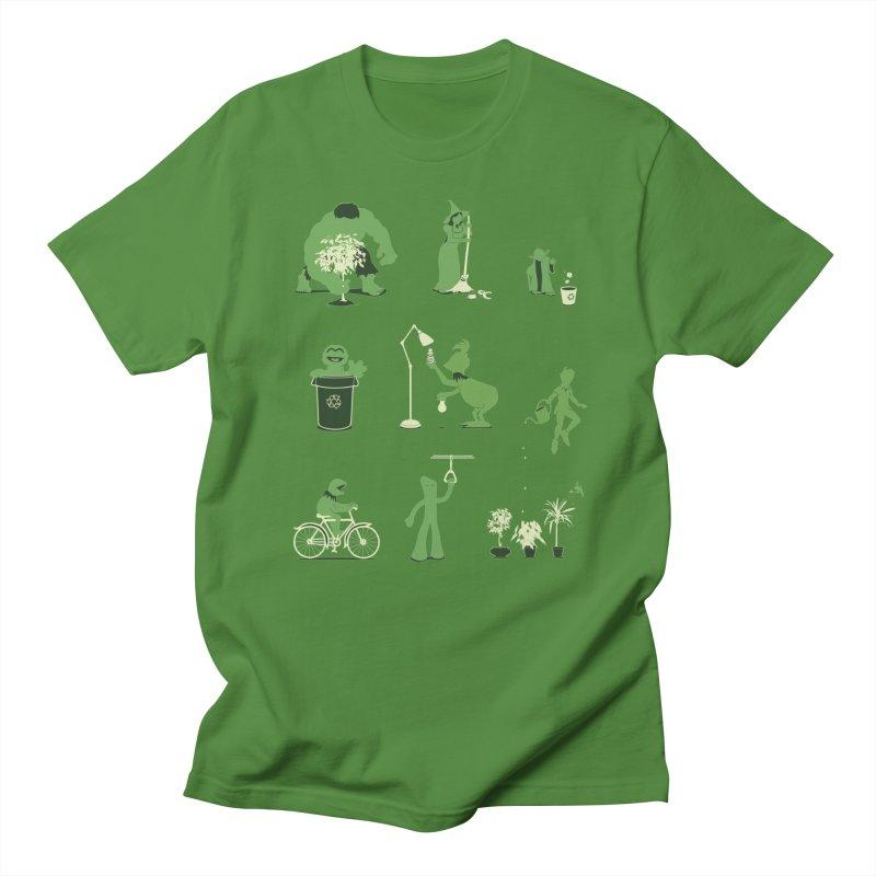 GOING GREEN Men's T-Shirt by davidfromdallas's Artist Shop