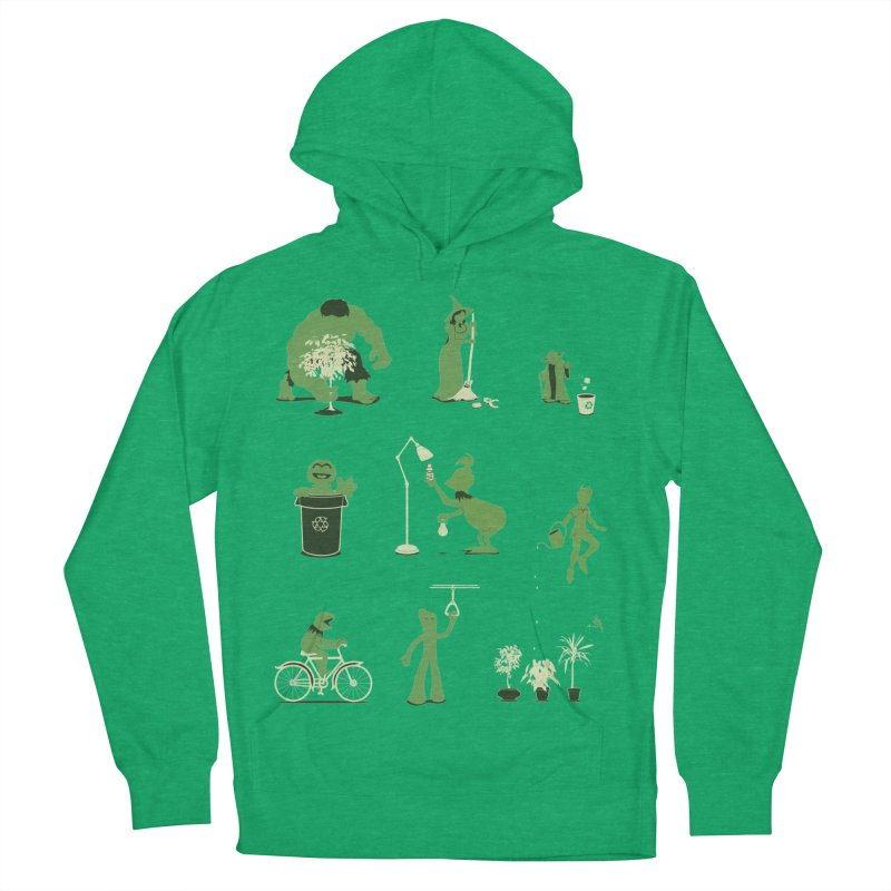 GOING GREEN Women's Pullover Hoody by davidfromdallas's Artist Shop