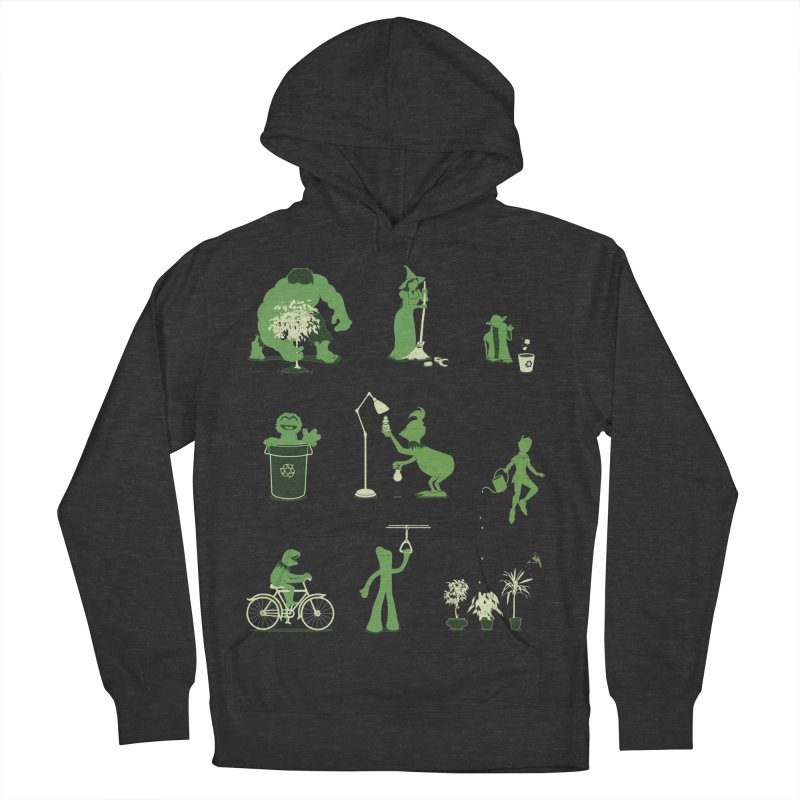 GOING GREEN Women's French Terry Pullover Hoody by davidfromdallas's Artist Shop