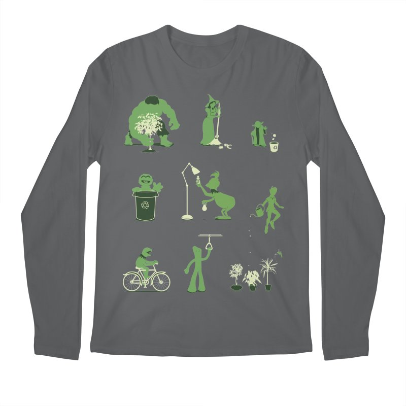 GOING GREEN Men's Longsleeve T-Shirt by davidfromdallas's Artist Shop