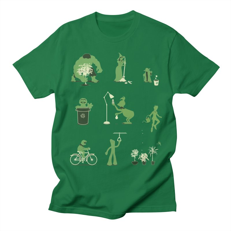 GOING GREEN Men's Regular T-Shirt by davidfromdallas's Artist Shop