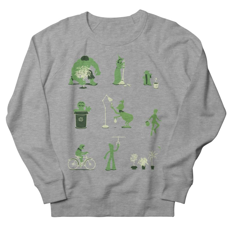 GOING GREEN Men's French Terry Sweatshirt by davidfromdallas's Artist Shop