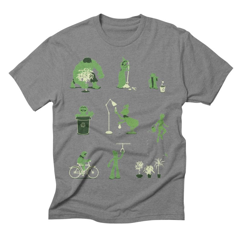 GOING GREEN Men's Triblend T-Shirt by davidfromdallas's Artist Shop