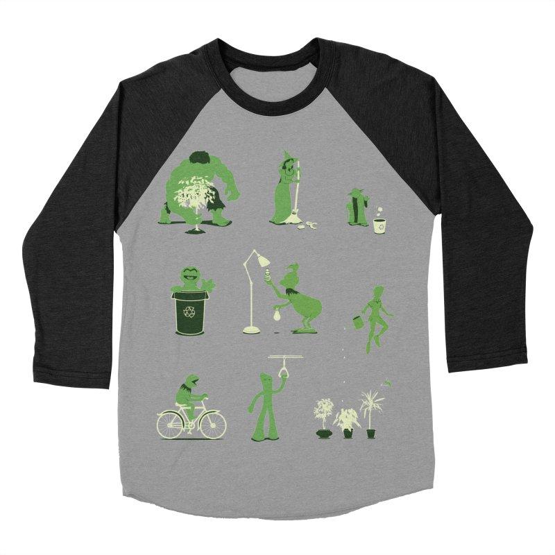 GOING GREEN Men's Baseball Triblend Longsleeve T-Shirt by davidfromdallas's Artist Shop