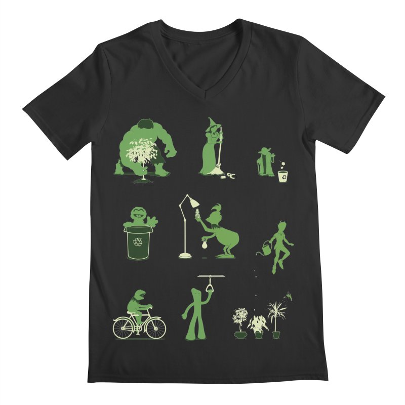 GOING GREEN Men's Regular V-Neck by davidfromdallas's Artist Shop