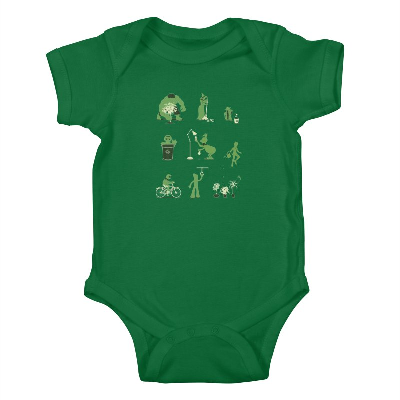 GOING GREEN Kids Baby Bodysuit by davidfromdallas's Artist Shop