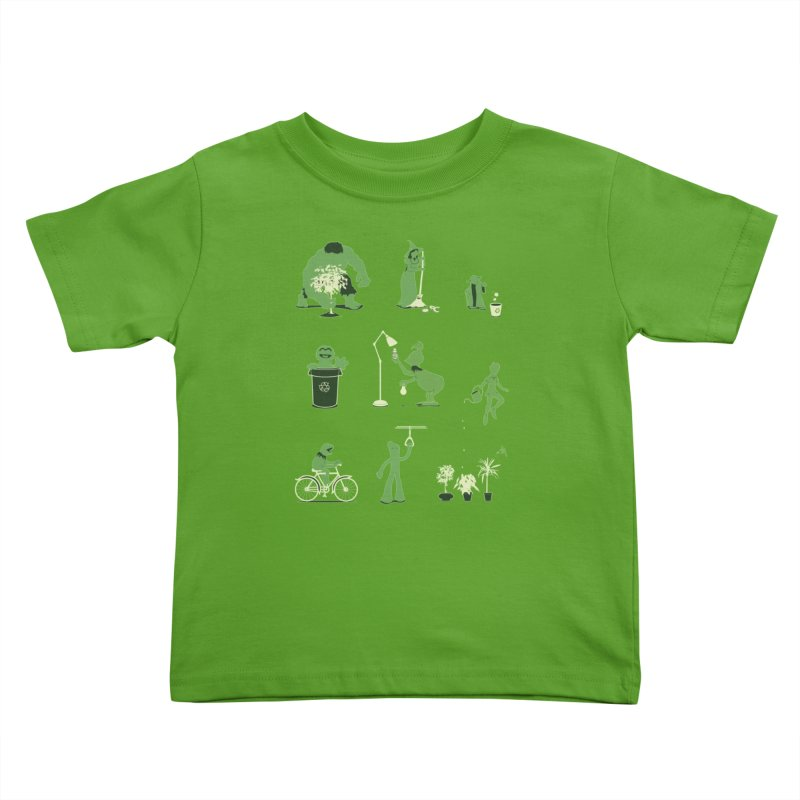 GOING GREEN Kids Toddler T-Shirt by davidfromdallas's Artist Shop