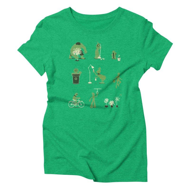 GOING GREEN Women's T-Shirt by davidfromdallas's Artist Shop