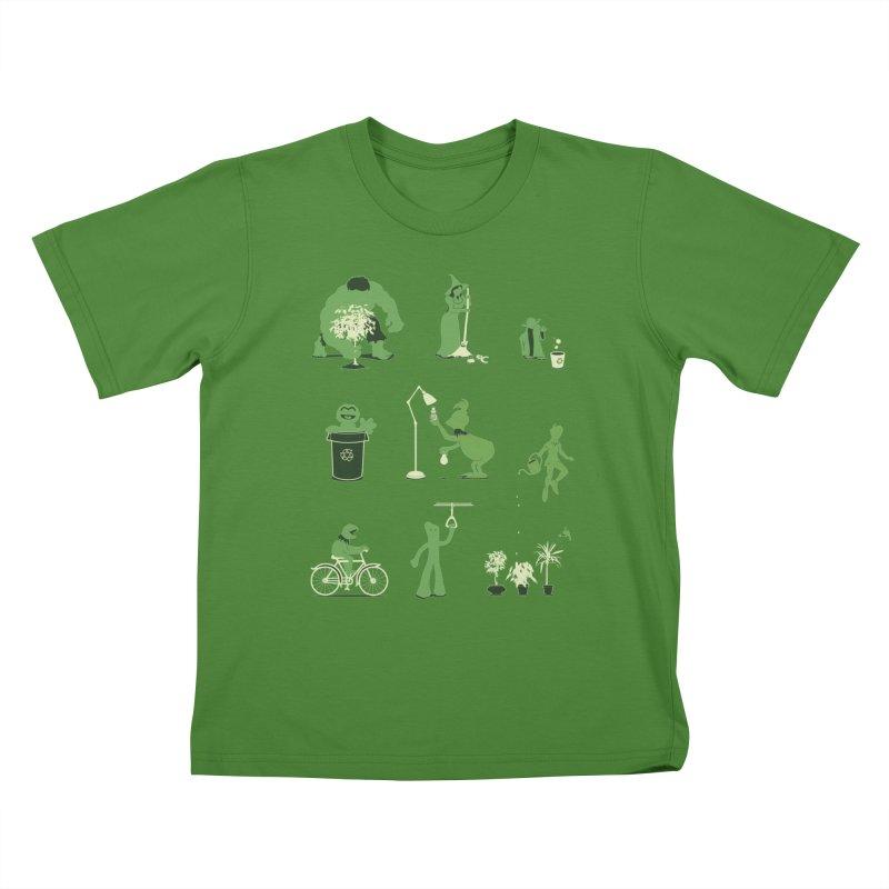 GOING GREEN Kids T-Shirt by davidfromdallas's Artist Shop