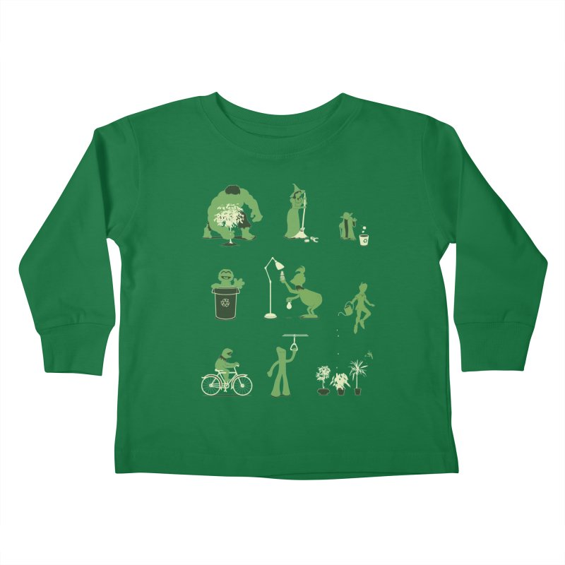 GOING GREEN Kids Toddler Longsleeve T-Shirt by davidfromdallas's Artist Shop