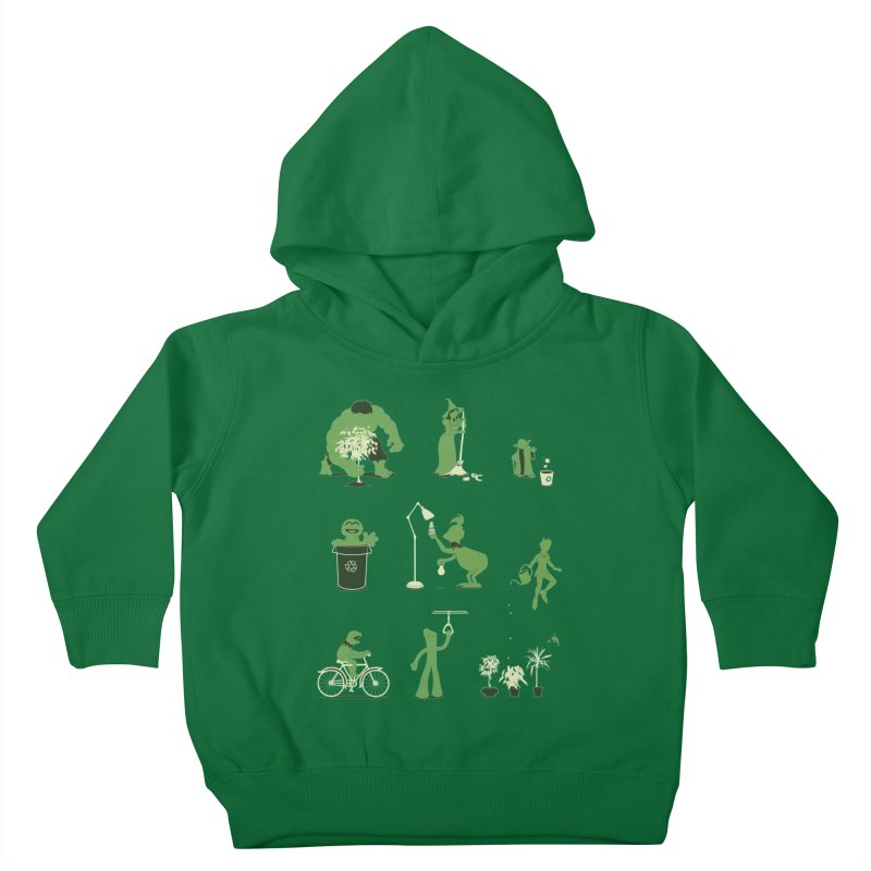 GOING GREEN Kids Toddler Pullover Hoody by davidfromdallas's Artist Shop