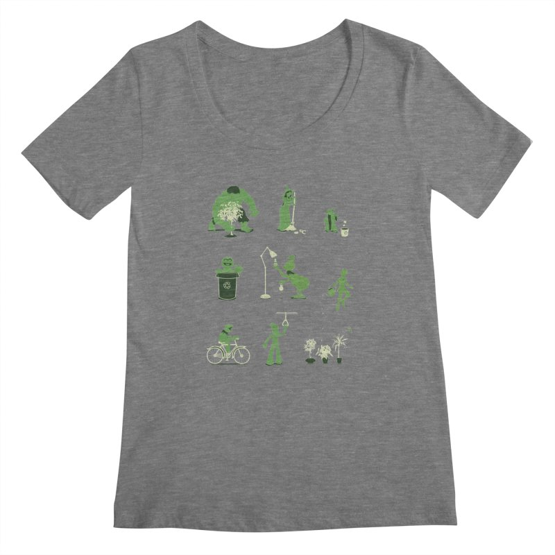GOING GREEN Women's Scoopneck by davidfromdallas's Artist Shop