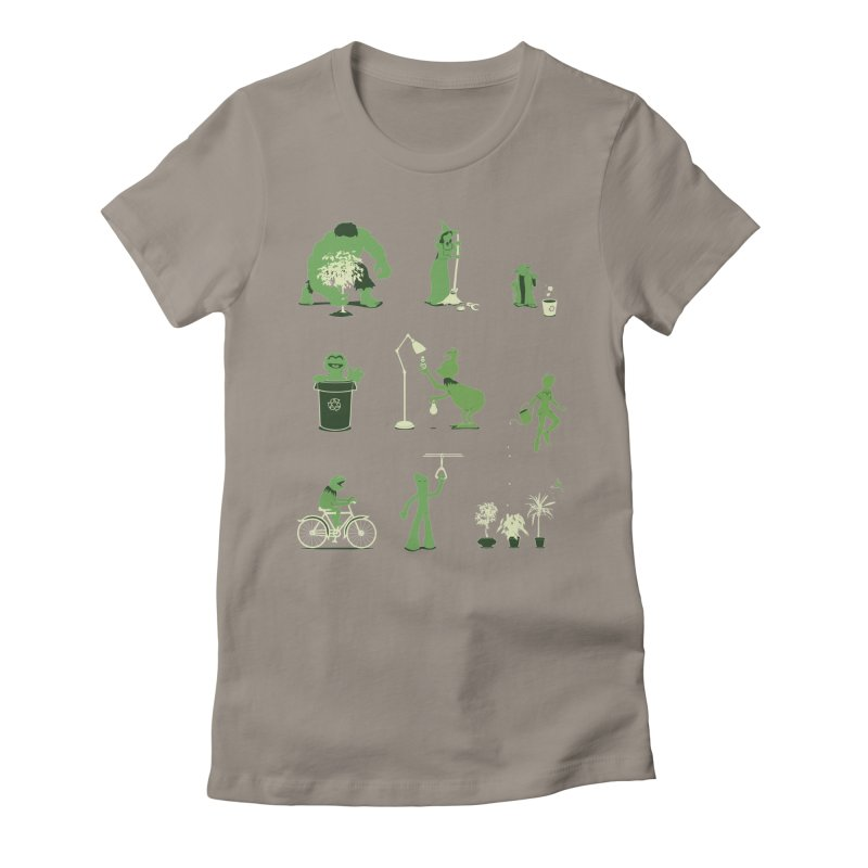 GOING GREEN Women's Fitted T-Shirt by davidfromdallas's Artist Shop