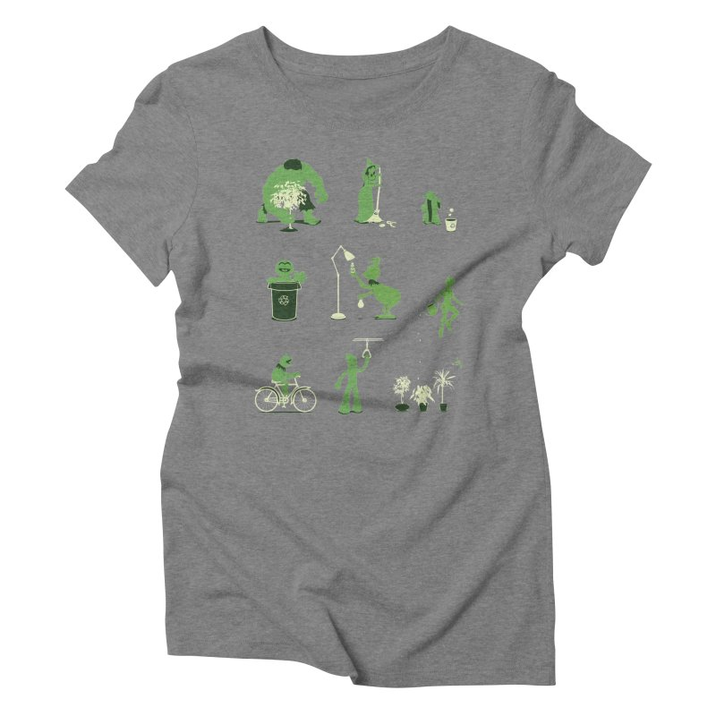GOING GREEN Women's Triblend T-Shirt by davidfromdallas's Artist Shop