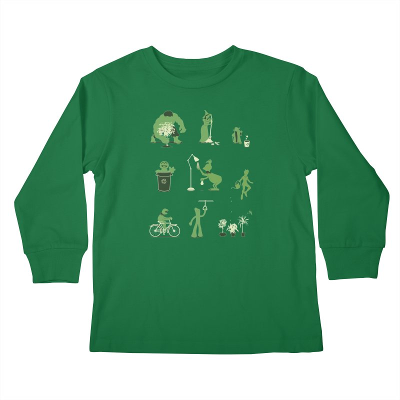 GOING GREEN Kids Longsleeve T-Shirt by davidfromdallas's Artist Shop