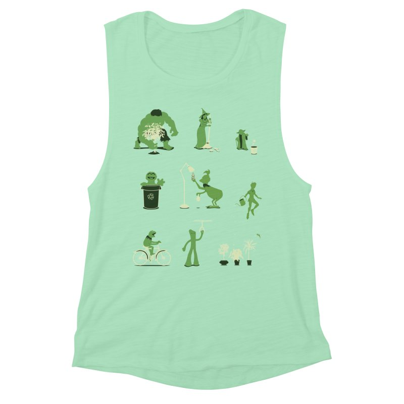 GOING GREEN Women's Muscle Tank by davidfromdallas's Artist Shop