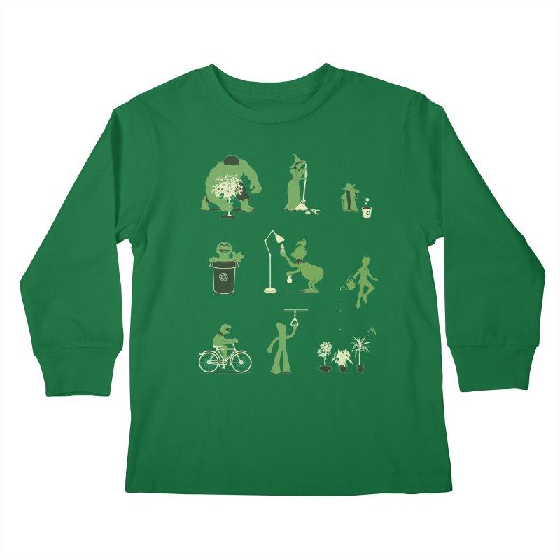 GOING GREEN Kids Longsleeve T-Shirt by davidfromdallas's Artist Shop