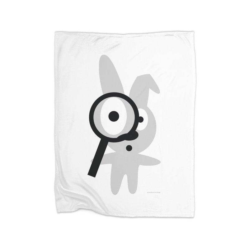 Wabbit Home Fleece Blanket Blanket by David Hsu Design Artist Shop