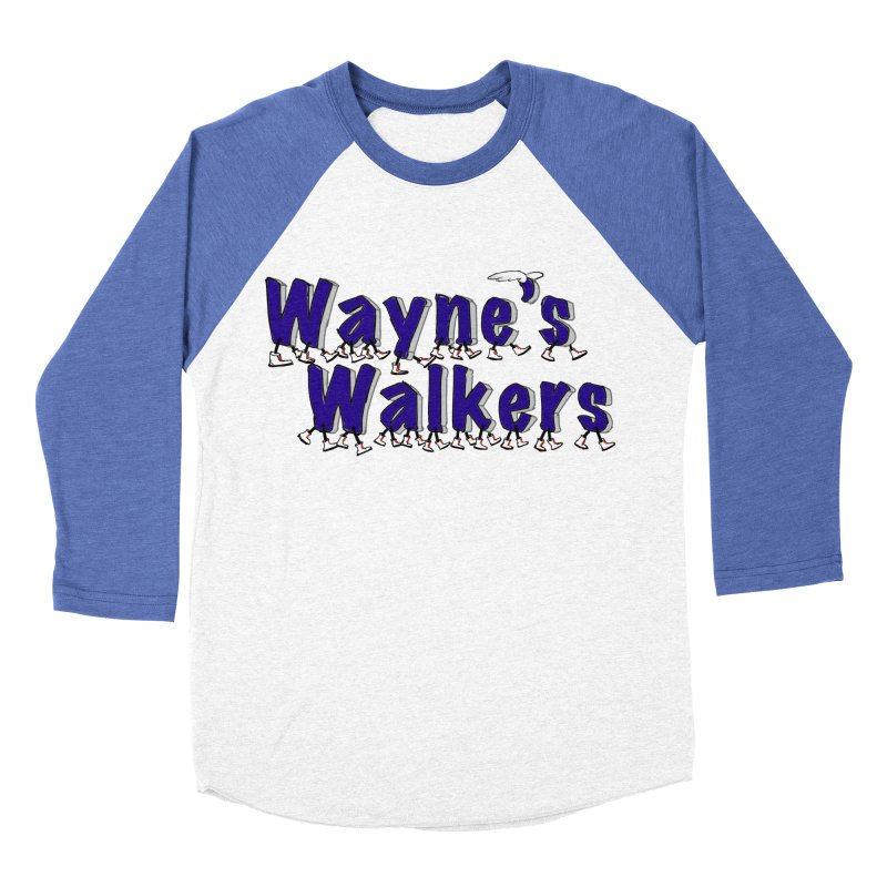 Wayne's Walkers Men's Baseball Triblend Longsleeve T-Shirt by David Hsu Design Artist Shop