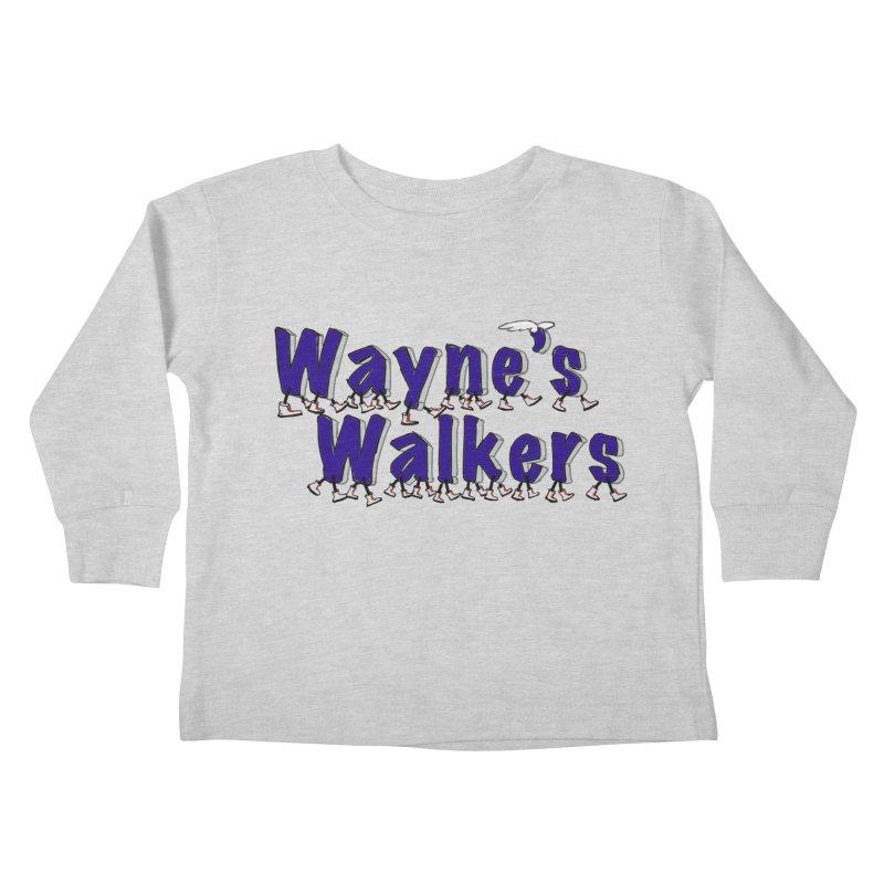 Wayne's Walkers Kids Toddler Longsleeve T-Shirt by David Hsu Design Artist Shop