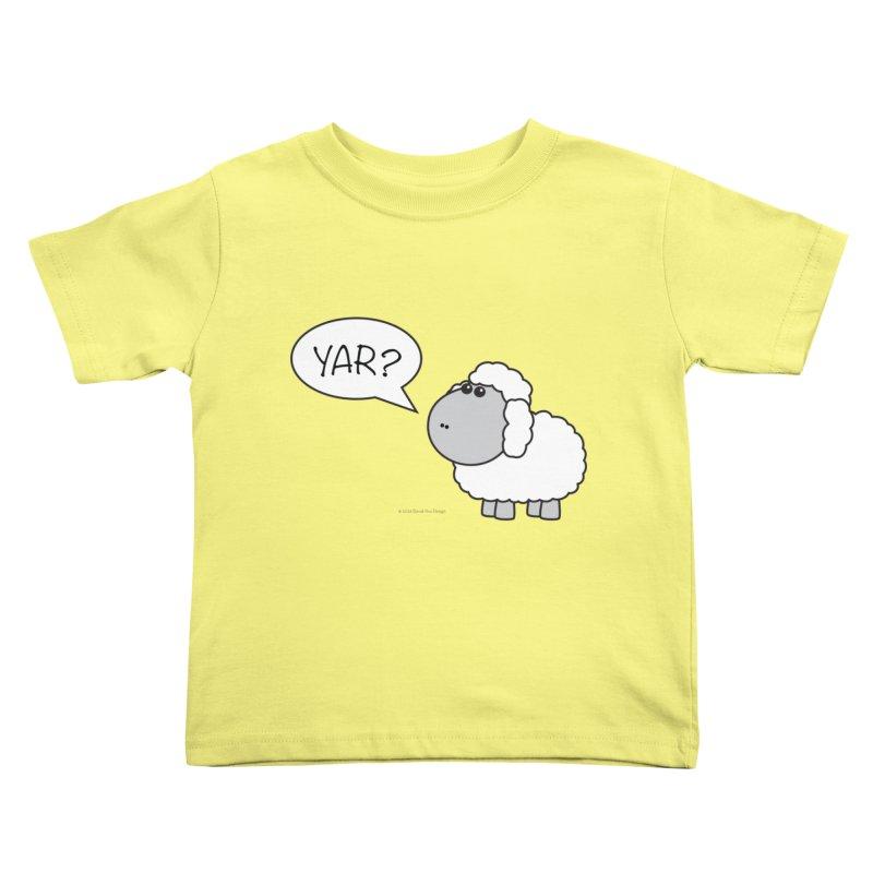 Yar Sheep Kids Toddler T-Shirt by David Hsu Design Artist Shop