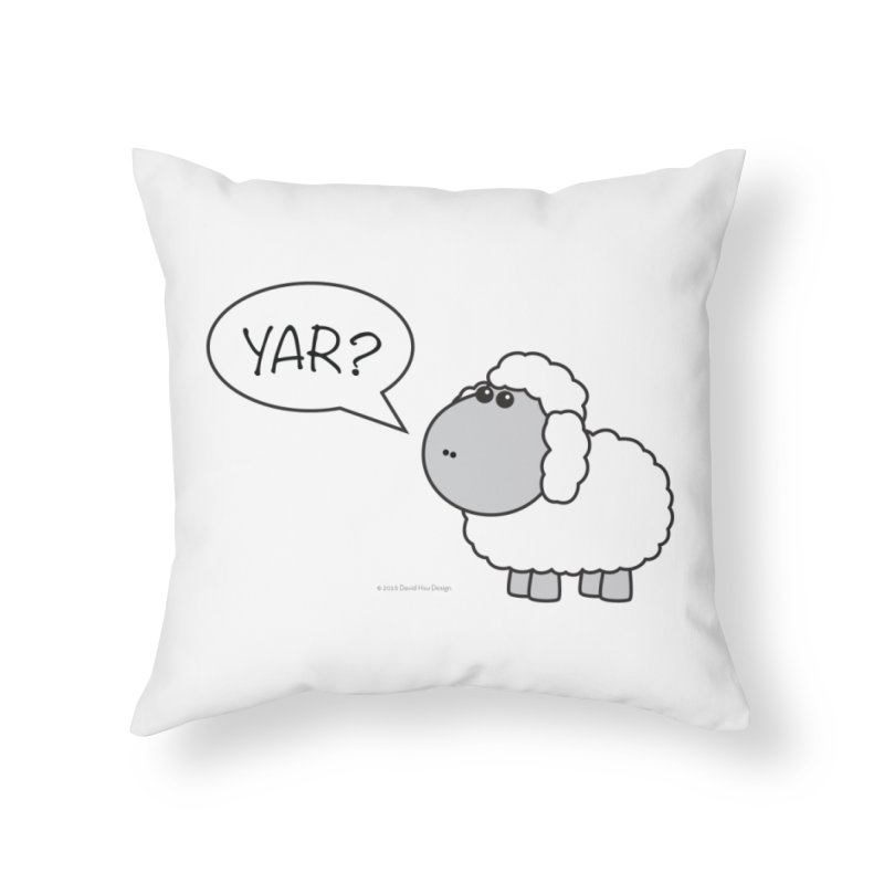 Yar Sheep Home Throw Pillow by David Hsu Design Artist Shop