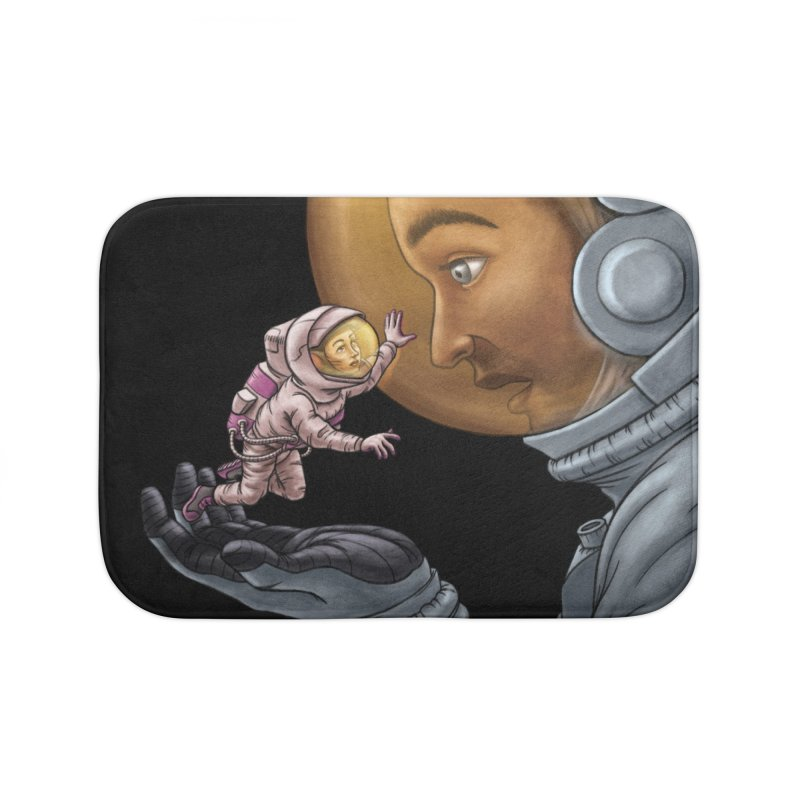 Out in the space Home Bath Mat by davidmacedoart's Artist Shop