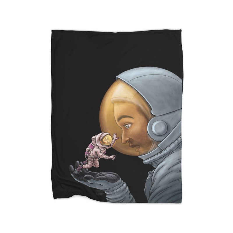 Out in the space Home Blanket by davidmacedoart's Artist Shop