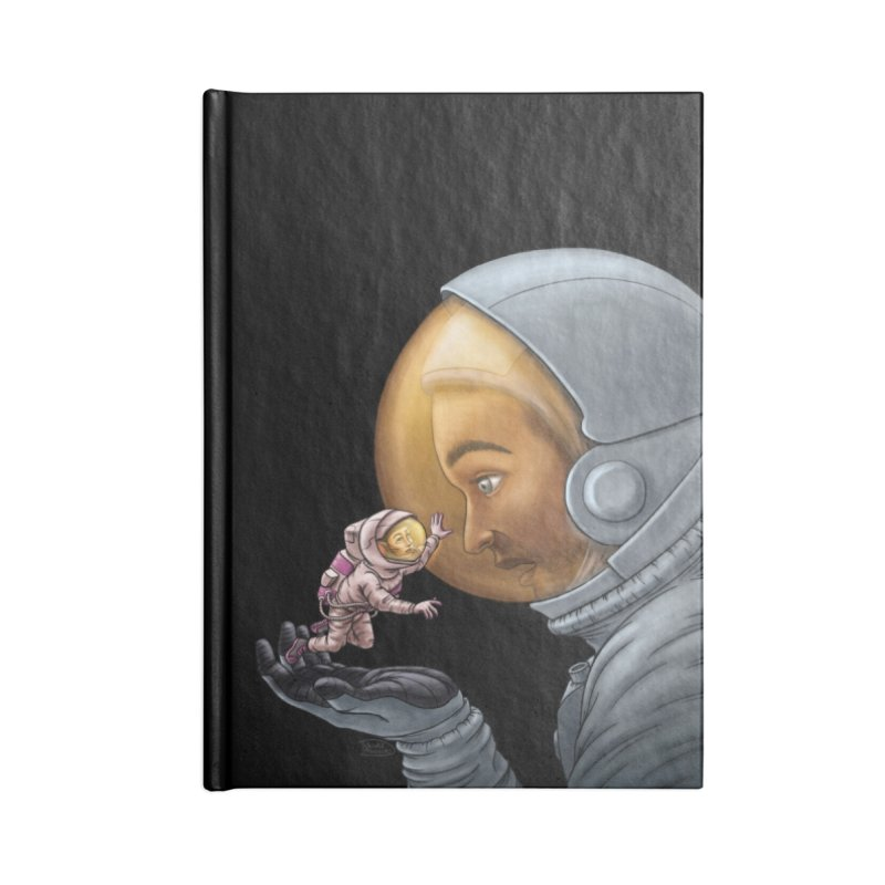 Out in the space Accessories Lined Journal Notebook by davidmacedoart's Artist Shop