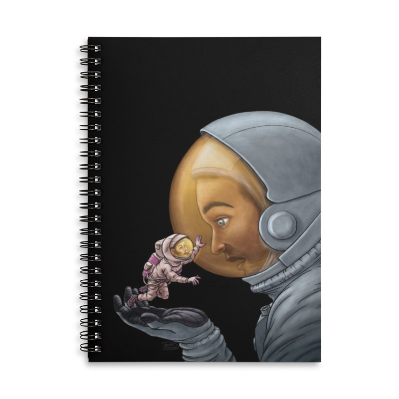 Out in the space Accessories Lined Spiral Notebook by davidmacedoart's Artist Shop