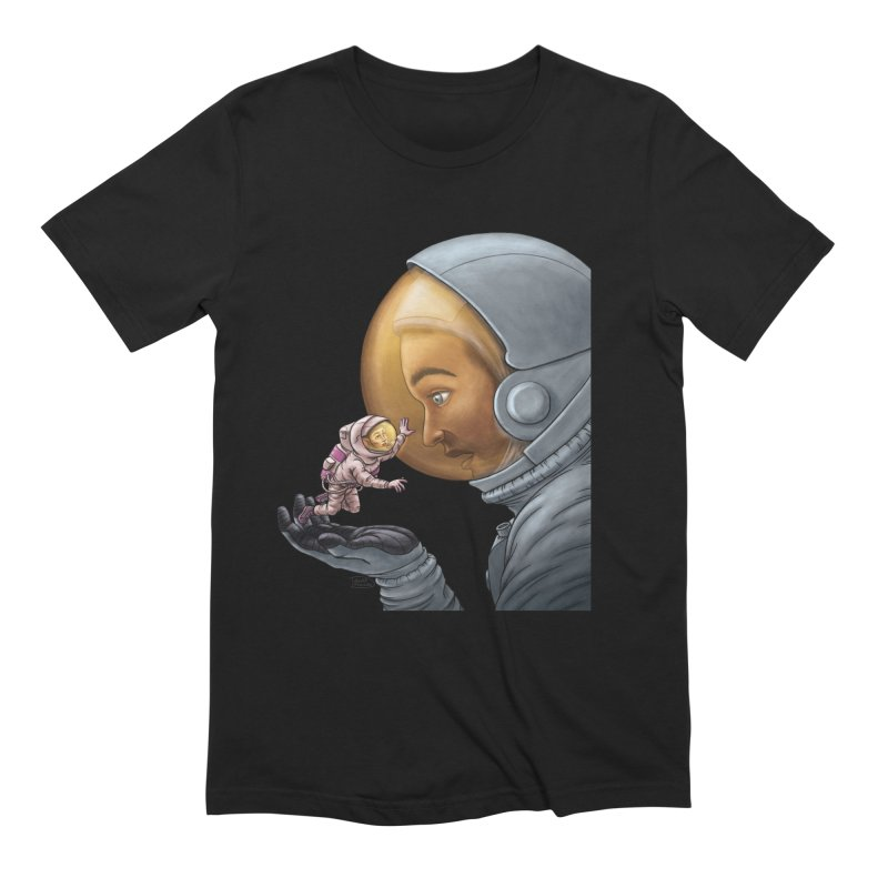 Out in the space Men's Extra Soft T-Shirt by davidmacedoart's Artist Shop