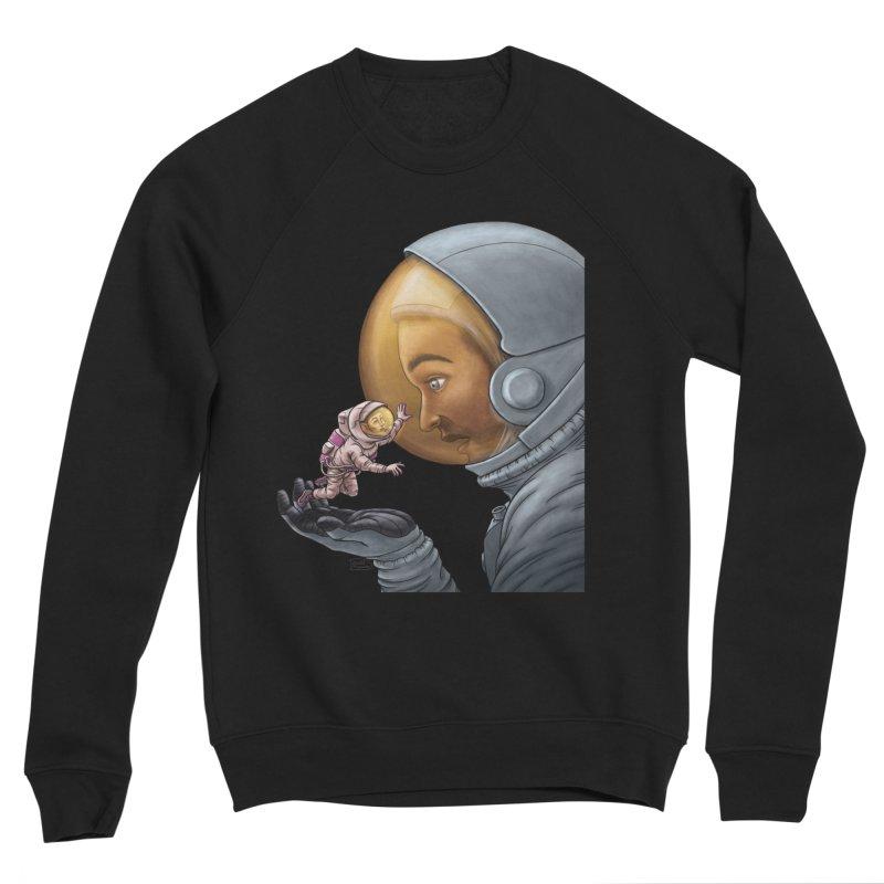 Out in the space Men's Sponge Fleece Sweatshirt by davidmacedoart's Artist Shop
